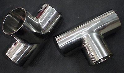 """WDTE150 STAINLESS STEEL WELD TEE 1 1//2/"""" SANITARY PIPE TUBING 38mm"""