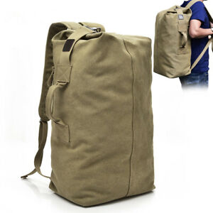Canvas-Travel-Backpack-Outdoor-Camping-Large-Capacity-Rucksack-Shoulder-Bag-Hot