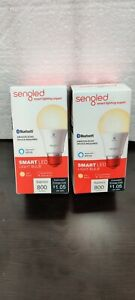 2 Pack Sengled Smart Bluetooth Mesh Dimmable LED Light Bulb Works with Alexa