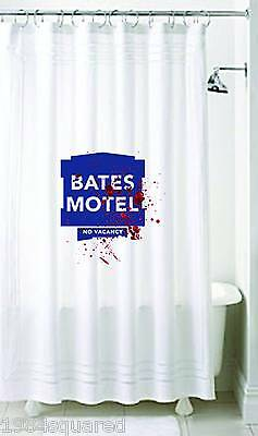 "Bates Motel 72x72"" Shower Curtain Psycho Bloody Hitchcock Norman Bates New Mint"