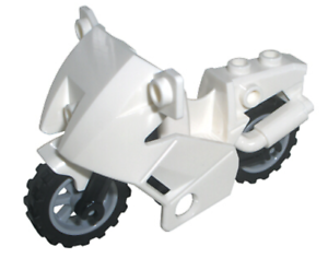 LEGO White City Police Minifigure Motorcycle Fairing Accessory