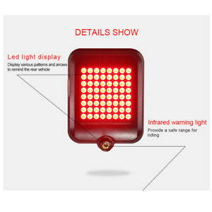 Bicycle-60-LEDs-SUPER-BRIGHT-USB-Rechargeable-Bike-TAIL-Light-Cycling-Waterproof