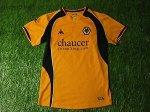 Image is loading WOLVERHAMPTON-WOLVES-2008-2009-FOOTBALL-SHIRT-JERSEY-HOME- 15652912d