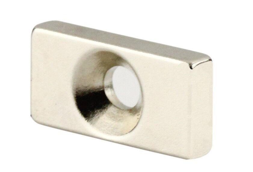 5 X AIMANT AIMANT AIMANT en Néodyme Trou,Trou 20mm X 10mm X 4mm Réduisant L'AIMANT de L'Anneau 47ded6