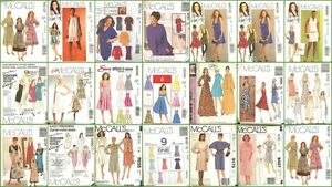 OOP-McCalls-Sewing-Pattern-Misses-Dress-Plus-Size-You-Pick