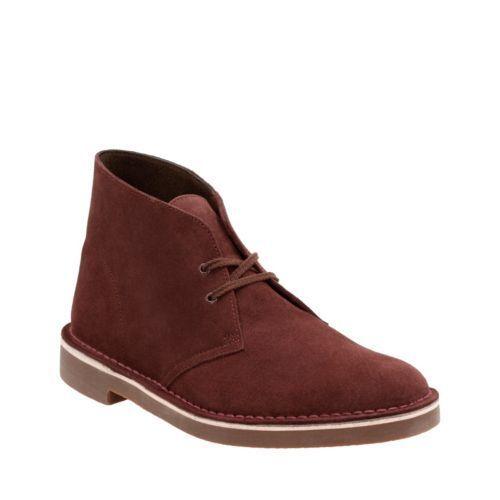 Clarks Bushacre 2 Men's Bordeaux Suede Boots 26122000
