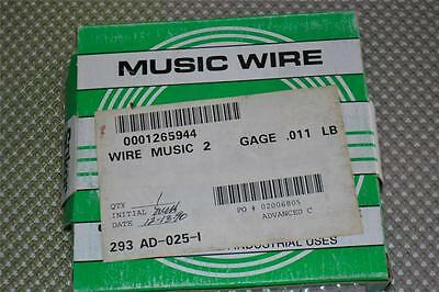ONE NEW 1LB BOX OF SUKOR MUSIC WIRE .011 DIA.  690636 26011