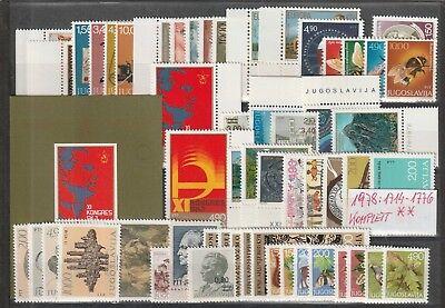 Sparsam Jugoslawien Jahr 1978 Komplett Mi. 1714 Bis 1776 & Block 18 Mnh Postfrisch MöChten Sie Einheimische Chinesische Produkte Kaufen?