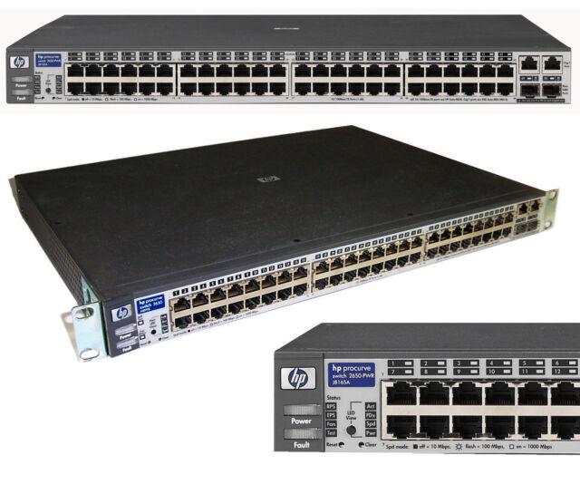 48x 10/100 Network Switch HP Procurve 2650 J4899B 2x4Gbit Gigabit ProC-16 MM