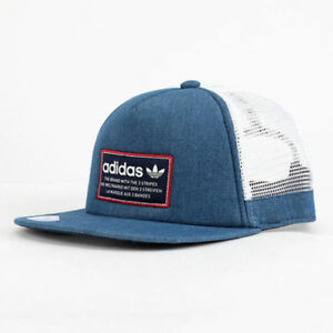 32f6333c029 Image is loading ADIDAS-Originals-Patch-Trucker-hat-cap-Thrasher-Trefoil-