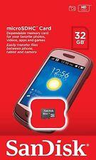 Sandisk 32 Gb Clase 4 Micro Sd Sdhc Tf C4 32 G T-flash Memoria Tarjeta paquete por menor *