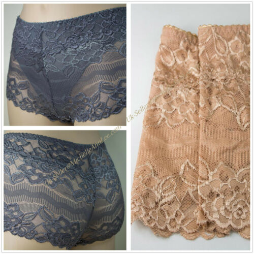 K25 Ex High Street  Flirty See through Lace Briefs Knickers Nude UK 12//14 20//22