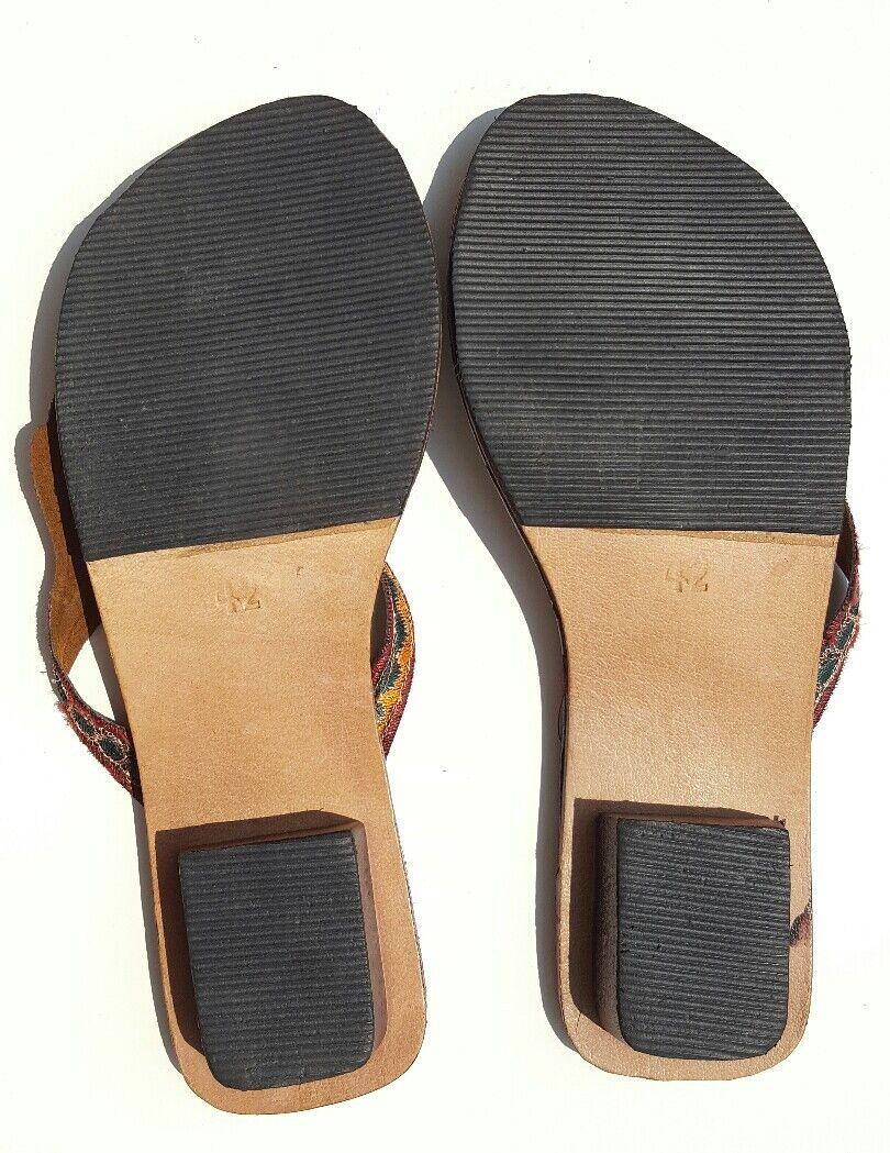 Afrikanische Flip Flops / NEU Zehentrenner Leder Gr. 40, NEU / adb727
