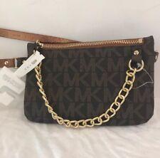 080e16920674 item 2 Michael Kors Fanny Pack Belt Bag MK Logo Chocolate/Gold Faux Leather  Bag SZ M -Michael Kors Fanny Pack Belt Bag MK Logo Chocolate/Gold Faux  Leather ...