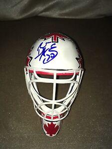 Braden Holtby Hand Signed Team Canada Logo Hockey Mini Goalie Mask Proof Coa Ebay