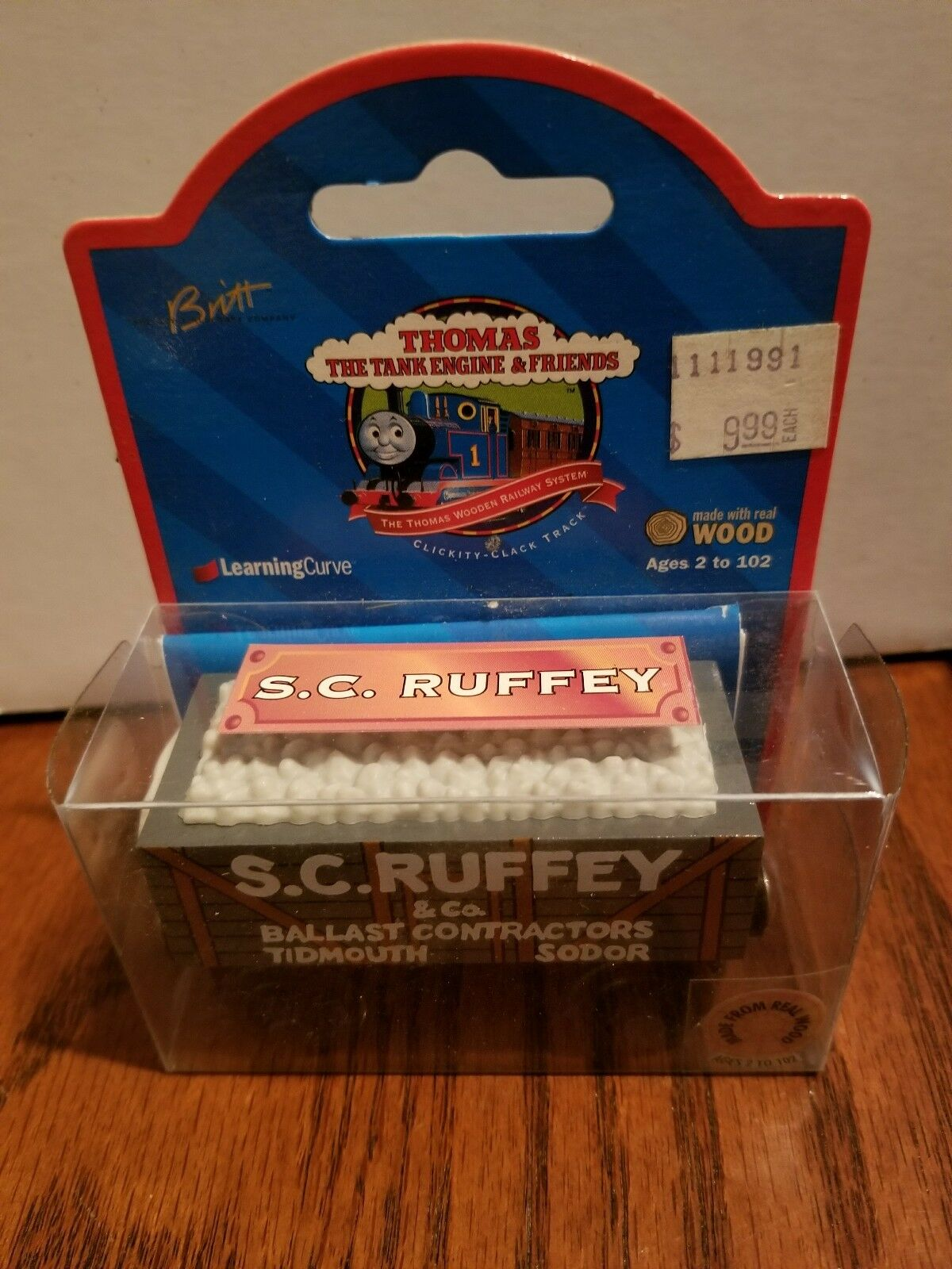 S.C. Ruffey 1998 Thomas & Friends WOOD  99074  NIB  Very Rare