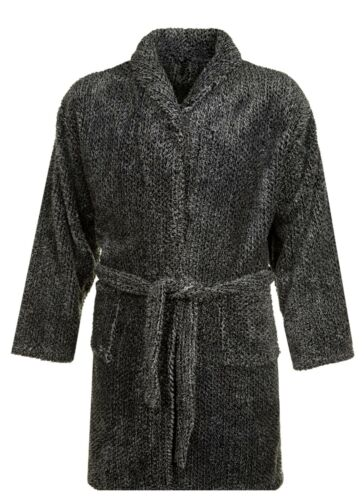 118 Espionage Mens Big Size Luxurious Long Pile Dressing Gown