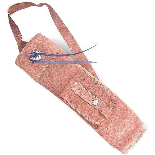 CAROL TRADITIONAL SUEDE LEATHER BACK ARROW QUIVER AQ150S BROWN