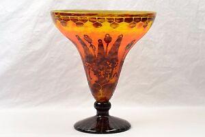 Charles schneider vase 1925 27 le verre france art deco for Deco vase en verre
