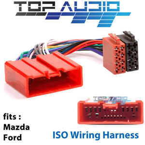 Mazda-Ford-ISO-wiring-harness-adaptor-cable-connector-lead-loom-plug-wire