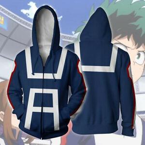 Boku No My Hero Academia Midoriya Izuku Deku Cosplay Hoodie Jacket Coat Sweater