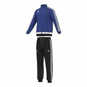 Details zu Adidas Kinder Trainingsanzug Jogginganzug blau 116 128 140 152 164 Anzug Sport