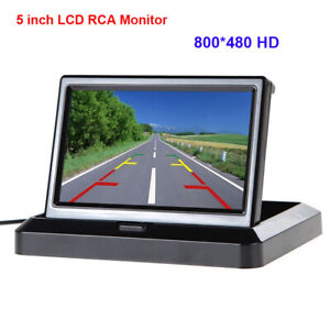 Details about 5'' Inch Foldable Car Dashboard LED Monitor Screen for Rear  View Parking Camera