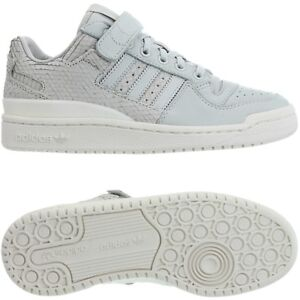 Details about Adidas Forum Lo women's low-top sneakers gray white casual trainers leather NEW