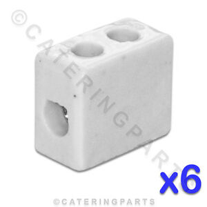 6x-CERAMIC-HIGH-TEMPERATURE-ELECTRICAL-CONNECTOR-BLOCKS-1-POLE-6mm-41A