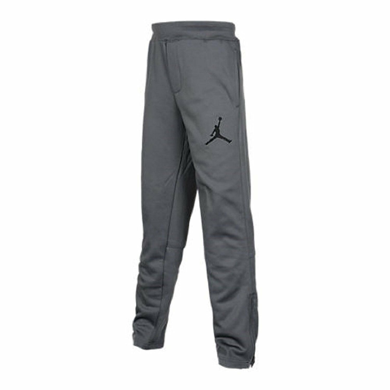 b2dcb79b2bb572 Nike Air Jordan Boys Jumpman Therma Fit Ankle Zip Sweat Pants Grey ...