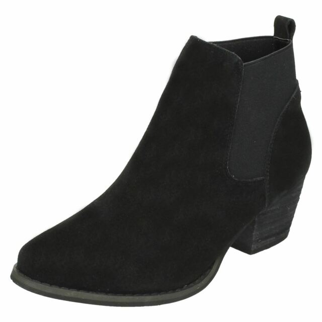 Details about  /Ladies Down To Earth Synthetic Slip On Chelsea Boots