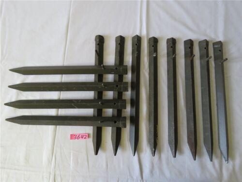 12 x BW Zeltpflöcke Pflock Zelthering Erdnagel Erdanker Zelt Schnurhaken Hering