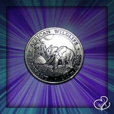 2017 1/10 oz AUTHENTIC Silver Somalia Elephant Bu Specimen Coin