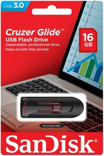 SanDisk 16GB 32GB 64GB 128GB 256GB Cruzer GLIDE USB 3.0 Flash Drive Retail Lot