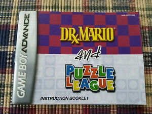 Dr-Mario-and-Puzzle-League-Authentic-Nintendo-Game-Boy-Advance-Manual-Only