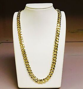 14k solid gold handmade miami cuban curb link 14k solid gold miami cuban curb link 36 quot 11 75 mm 300