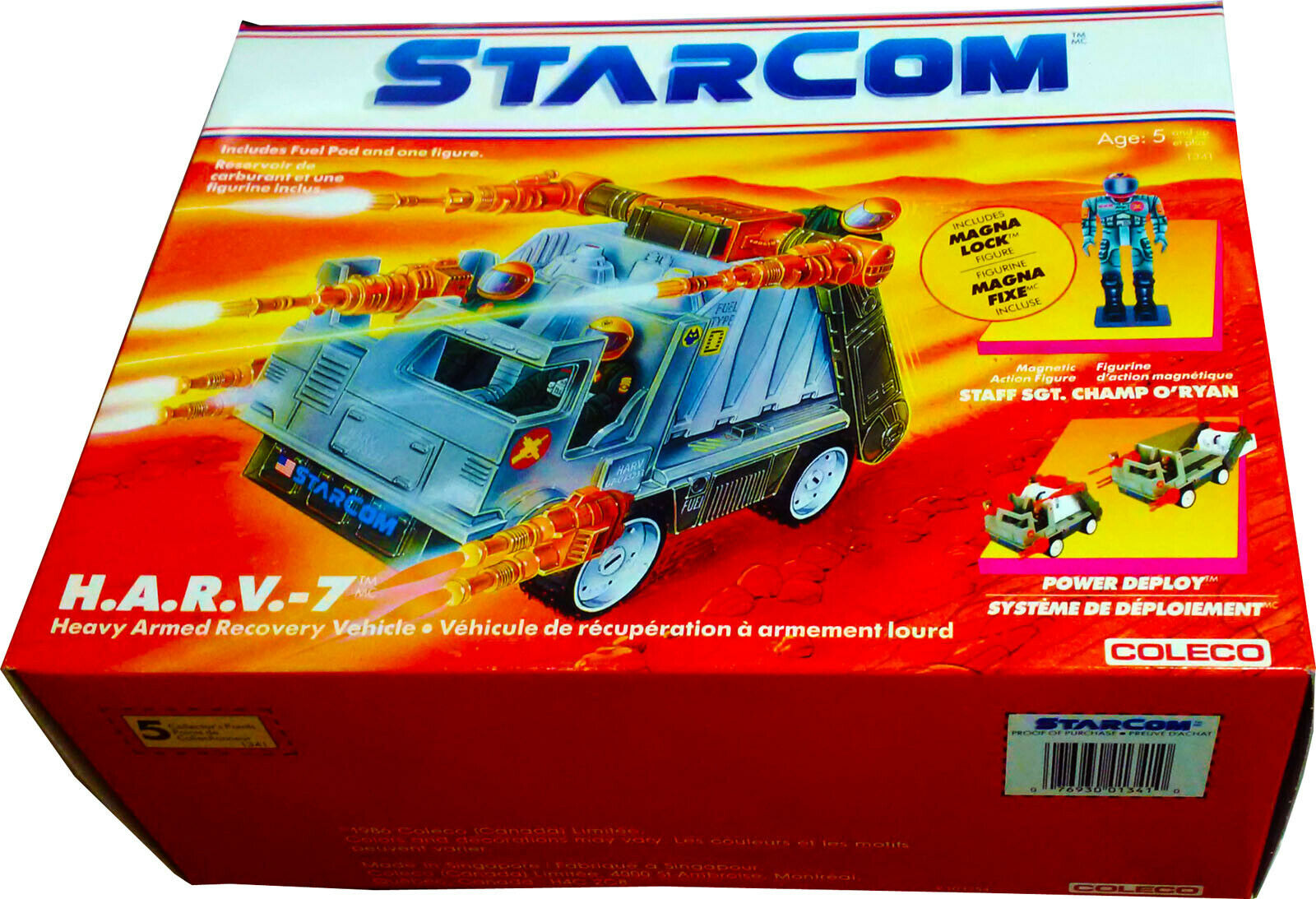Starcom ™ H.A.R.V. -7 ™ Armée Véhicule de dépannage-Vintage 1986-DGSIM-NOUVEAU  AFA It