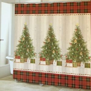 Image Is Loading Christmas Tree Fabric Shower Curtain Avanti Linens