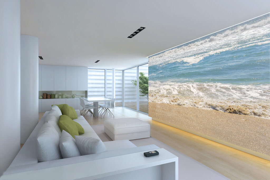 3D Waves beach 231 Wall Paper Wall Print Decal Wall Deco Indoor Wall Murals