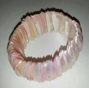 Fashion-Dyed-Pink-MOP-Shell-Stretch-bracelet