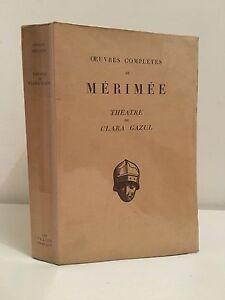 """Prosper Mérimée Théatre de Clara Gazul Pierre Martino 1929 - France - Commentaires du vendeur : """"Bon état"""" - France"""