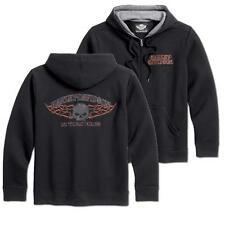 """Harley Davidson Sudadera Con Capucha Ligera Cráneo Ardiente (tamaño L/42"""" -45"""") 99002-16VM"""