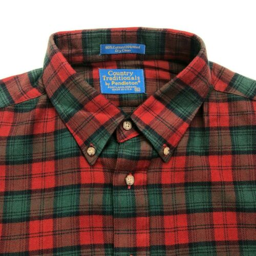 Pendleton Country Traditionals Mens XL Green Plaid