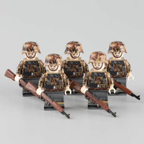 WW2 Military Army Soldier Figures Building Blocks German Soldiers Medic Kid Toys