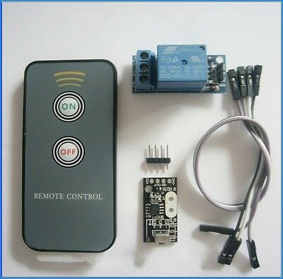 2-button remote control + receiver  + relay module / infrared remote control kit
