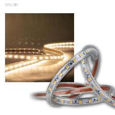 (9,75€/m) 10m LED Lichtband warmweiß 230V dimmbar IP44 SMD Licht-Streifen Stripe