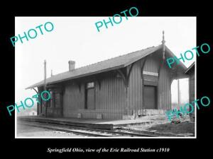 OLD-LARGE-HISTORIC-PHOTO-OF-SPRINGFIELD-OHIO-THE-ERIE-RAILROAD-STATION-c1910-1