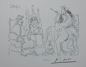 Picasso (Según ) - Papa Sentado Y Cara Sorprendida - Litografía Firmada, 1200ex