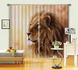 3D-Pretty-Lion-Blockout-Photo-Curtain-Printing-Curtains-Drapes-Fabric-Window-AU