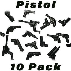 LEGO-Guns-Pistol-Lot-Handgun-Randomized-Custom-SWAT-Police-Military-Army-Bulk